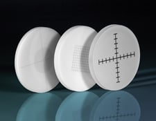 White Ivory Glass Reticle Targets