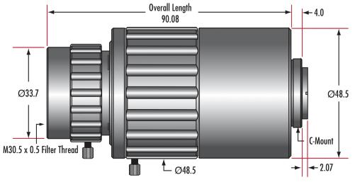 1.0X - 3.0X Telecentric VariMagTL® Lens (#88-387)