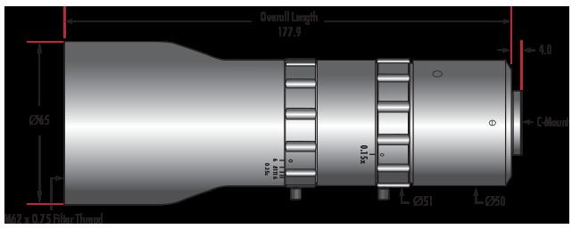 0.25X - 0.5X Telecentric VariMagTL® Lens (#88-385)
