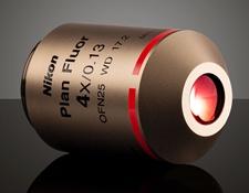 4X Objective, Nikon CFI Plan Fluor, #88-378