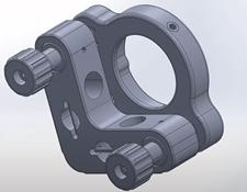 #15-866, 25.0/25.4mm Optic Dia., E-Series Kinematic Mount